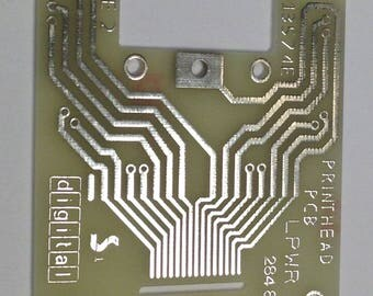 """Vintage Loose Circuit Board (PCB) Yellow Silver approx 2-1/2"""" Square Pkg1 PCB2"""
