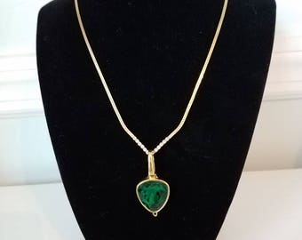 Swarovski Emerald Green Crystal Pendant