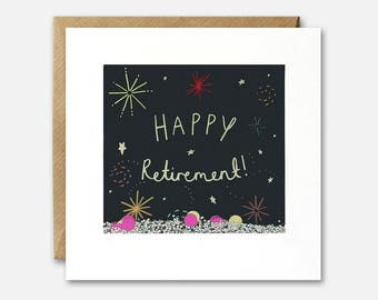Retirement Fireworks Shakies Card by James Ellis