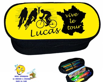 case for pencils school bicycle vivid tour customizable name ref 267