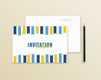Invitation card - Yellow - postcard banner