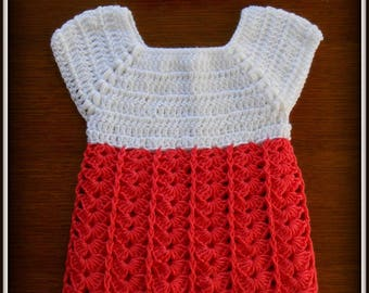 dress and little crocheted baby 3 months cotton matching headband and baby acrylic