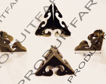 8 protection Angle Bronze shockproof and embellishment for furniture, box corners chest 31 mm