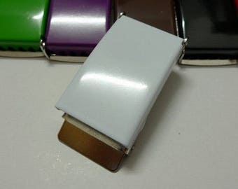 White metal buckle 25 mm