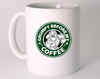 """GRUMPY BEFORE MY COFFEE"" CERAMIC MUG"
