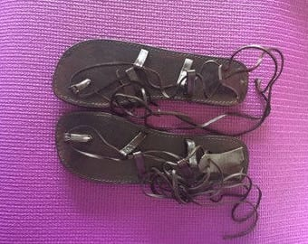 Gladiator Leather Sandals Size 8