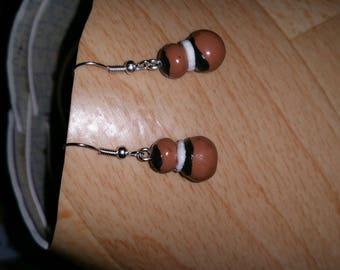 handmade fimo religious earrings