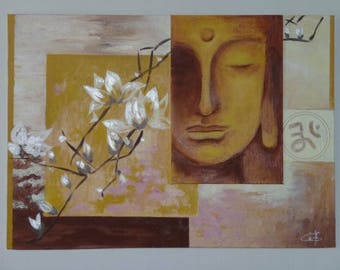 Little Buddha painting oil painting