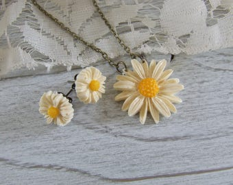Spring set * daisies * resin - hand-made Daisy