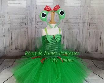 Tutu dress birthday, frog, 1 to 4 years old