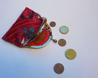 Vintage pink/red coin purse
