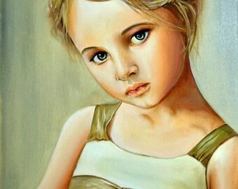 """Portrait """"Girl in sundress"""""""