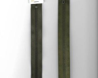 "Closure 20cm zipper""plastic"" not separable Z51 khaki 765"