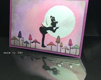 card one fairy mushroom under the moon... ;-)