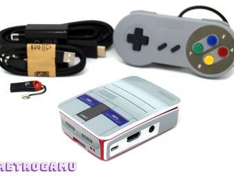 Retro Gaming SNES US Mini Plug n Play 14000+ Game Retropie Raspberry Pi 3 Bundle