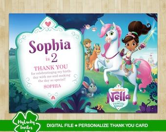 Nella the princess knight thank you card, Nella the princess knight thank you, Nella the princess knight, thank you card