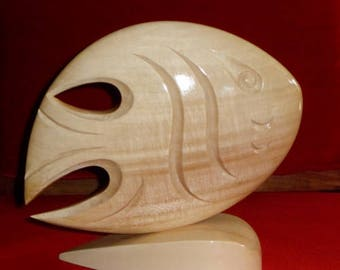 Modernistic Original Wooden Fish
