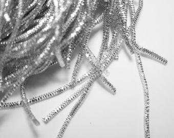 Cannetille Frisée Argentée Ressort Métallique 2 mm x 1 mètre