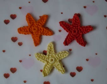 1 star (4 cm) crochet
