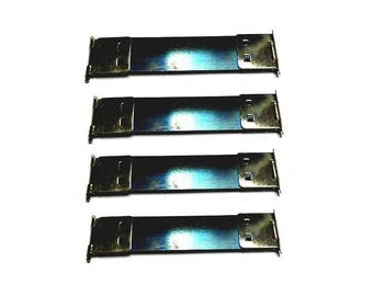 Lot 4 clasps Click Clack spring 6,8 cm for glasses case