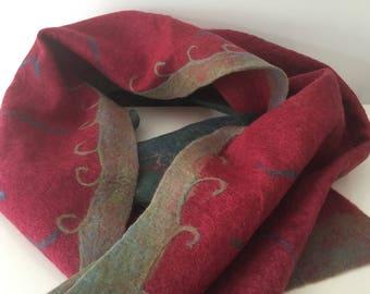 Warm & beautiful felt scarf