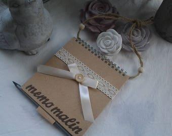 "Notebook ""Memo smart"" decorated kraft cardboard"