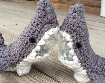 Items similar to shark slippers crochet pattern men sizes on etsy crochet shark slippers newborn to adult shark slippers shark socks shark week dt1010fo