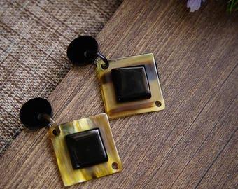 Buffalo Horn Earrings Horn Earrings Horn Jewelry Horn Accessories TA 26020