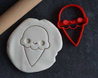 Kawaii ice cream cone cookie cutter