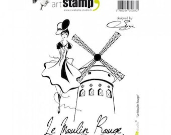 Buffer art Carabelle stamp - Moulin Rouge - for sewing, scrapbooking and cardmaking