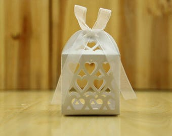 Filigree Heart Favor Box//Wedding Favor//Wedding favor Boxes//Wedding Candy Paper Box//Gift Box// Wedding Gift//Treat Box,baby Shower