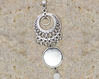 support cabochon 20 mm connector pendant circle