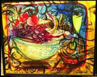 Karen Lund Fine Art, still life, Catch Me, acrylic painting