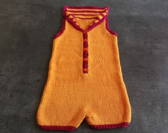 combination orange sleeveless pink 6 months