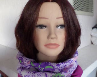 snood scarf reversible in two different fabrics