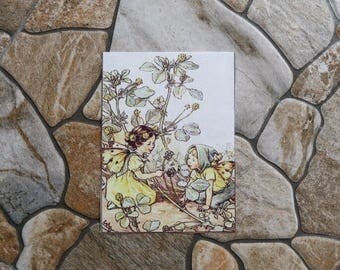 Two Patchwork fabric coupon pretty fairies