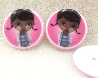 Set of 5 buttons doctor plush