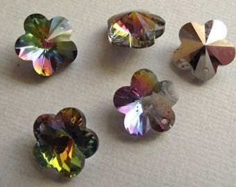 5 Silver stained glass 15 x 15 mm.