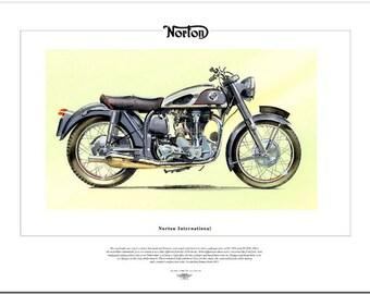 SCOTT FLYING SQUIRREL - Motorcycle Fine Art Print 600cc Twin 2-Stroke Motorbike
