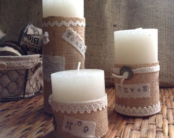 3 candles shabby chic to your home decor