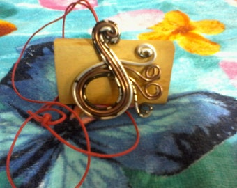 Brown Silver Pendant
