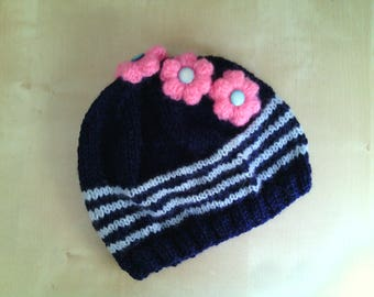 wool pattern and crochet for baby girl Hat