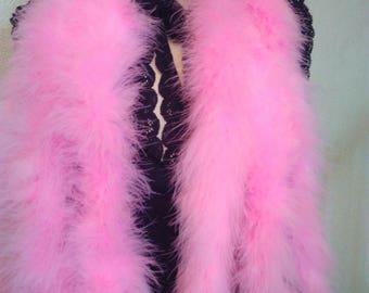 Pink bird feather scarf