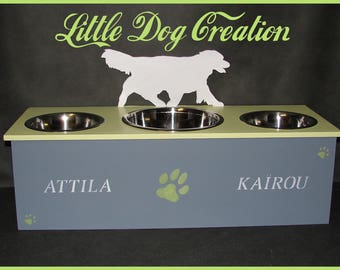 Triple stand bowls for Australian Shepherd