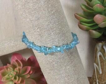 Apatite Gemstone | Stretch Bracelet | Stacking Bracelet | Boho Bracelet | Crystal Bracelet | Healing Crystal Jewelry