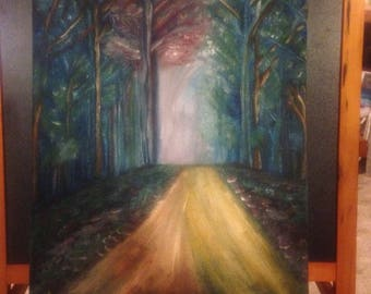 A Walk In The Woods original oil painting
