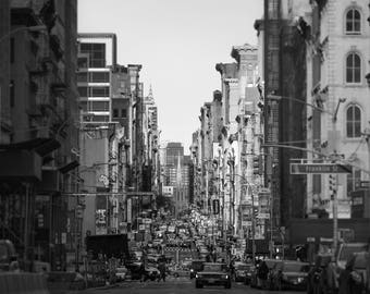 New York City Photography, NYC Print, Black and White, City Streets, Lower East Side