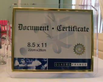 glass document frames 85 in x 11 in