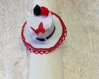 Napkin ring Hat decoration