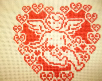 monochrome Angel cross stitch pattern